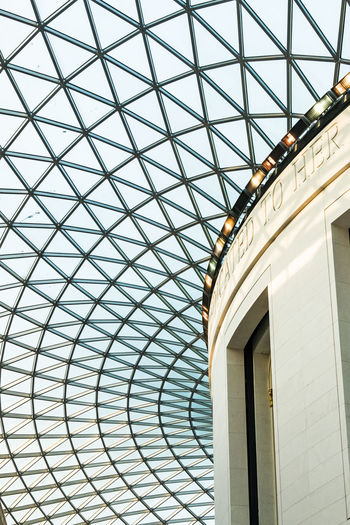 The iconic roof of a museum in London Atrium British Museum, England Geometric Shapes Roof Architectural Feature Architecture Architecture And Art British Museum British Museum Roof Building Built Structure Ceiling Day Design Directly Below Geometric Shape Glass - Material Low Angle View Modern No People Pattern Sky Skylight Window