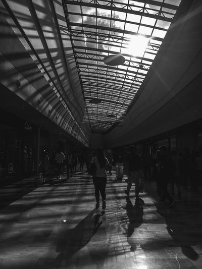 Architecture Indoors  Real People Ceiling Large Group Of People Railroad Station Men Transportation From My Point Of View EyeEm Best Shots Women Silhouette Group Of People Lifestyles Full Length Day Architecture People Adult Adults Only