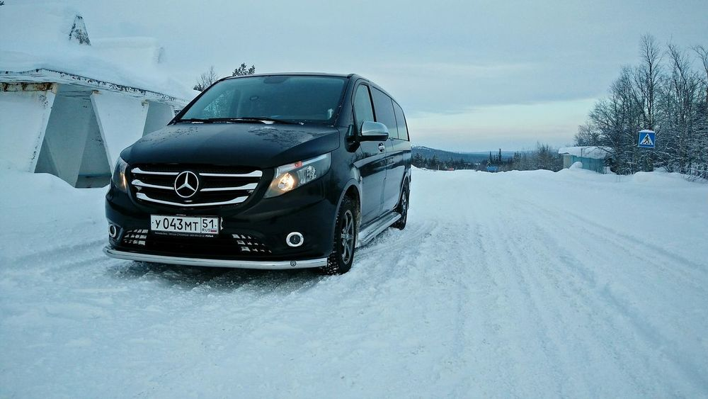 Cold Temperature Winter Travel Transportation Snow Outdoors Car Mercedes-Benz Murmanskregion Lovozero Village Snowvillage Vito Tourism