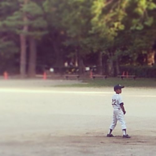 Watched my first Baseball game here in Japan today, was Awesome ...these kids have talent! KyotoNationalGarden