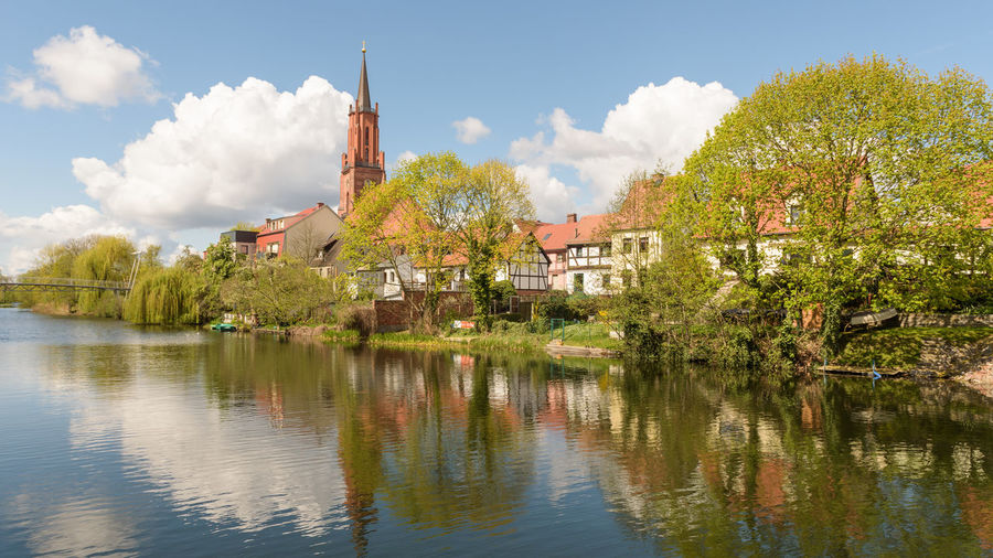 Alter Hafen Frühling Havelland Germany Kreisstadt Rathenow Architecture Beauty In Nature Building Exterior Built Structure Cloud - Sky Day Lake Nature No People Outdoors Reflection Scenics Sky Town Tranquility Travel Destinations Tree Water Waterfront Windmill
