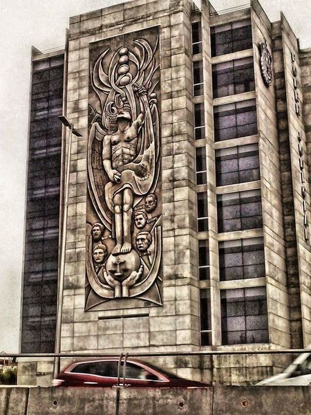 Poder judicial bilthing Art Creativity Design Sculpture Architecture Outdoors Architectural Column Bas Relief Stone Material Architectural Feature Architecture And Art