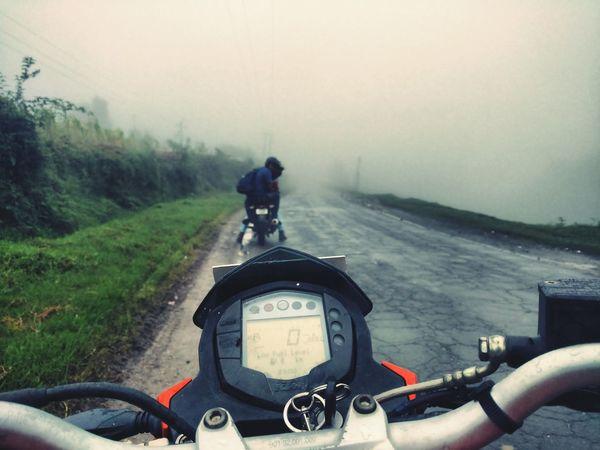 Where The Wild Things Are Foggy KTM Duke200 Riding Monsoon Season Mairang India North East India