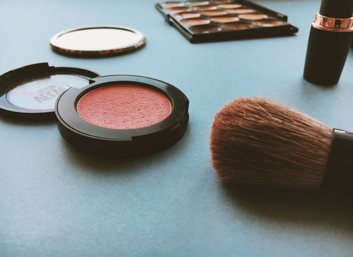 Morning makeup Rouge Makeupoftheday Make-up Makeup Cosmetic Products Cosmetics & Glamour Cosmetics Still Life Table Indoors  Make-up No People Beauty Product Close-up Day
