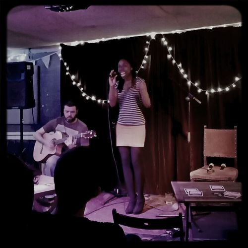 Second act is Clarissa Felix, and what a class act she is! Night Out Awesome Music Gig