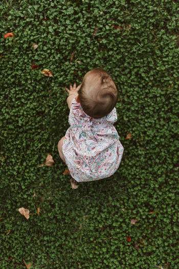 Gabriela start to crawl :) Baby Moving Baby Baby Crawl Babyhood Child Childhood Crawl Crawling Cute Day Floral Pattern Full Length Grass Green Color High Angle View Innocence Leisure Activity Move Move On Movement Nature Outdoors Toddler  Young