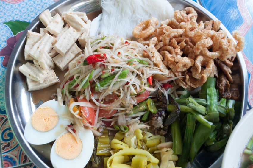Papaya salad that's spicy food in Thailand. It's good. Appetizer Chopped Close-up Food Food And Drink Freshness Indoors  Indulgence Meal Papaya Salad Plate Ready-to-eat Serving Size Somtam  Spicy Spicy Food Thai Thai Food