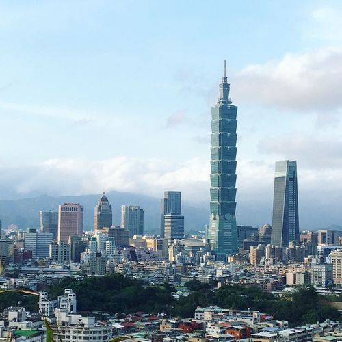 Taipei 101 and Taipei Landscape from fuzhoushan park. Built Structure Architecture Skyscraper Tower Tall - High Urban Skyline Day No People Residential District Travel City Taipei Taipei 101 Taipei City Outdoors Landmark Landmarkbuildings Tourism