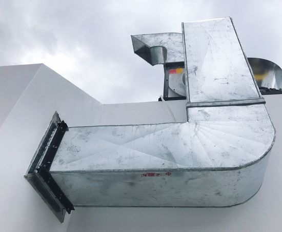Sky Built Structure Low Angle View No People Architecture Outdoors Day Building Exterior Zinc Chimey Industry White Cook
