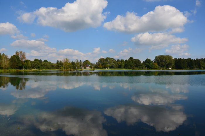 Nikon Beauty In Nature Cloud - Sky Day Lake Nature No People Outdoors Reflection Scenics Sky Tranquil Scene Tranquility Tree Water Waterfront Weitmannsee