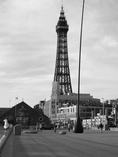 Black And White Photography Black And White Black & White Blackpool Tower Blackpool Promenade Tourists Tourism Tourist Attraction