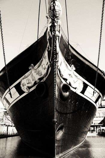 Isambard Kingdom Brunel's SS Great Britain in black and white. Transportation No People Outdoors Day Sky Close-up EyeEmNewHere Ship Isambard Kingdom Brunel Brunel Ss Great Britain Steamship Monochrome Contrast Blackandwhite Symmetry EyeEm Selects