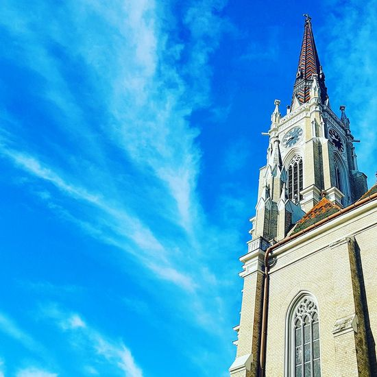 Architecture Built Structure Low Angle View Sky Religion No People Place Of Worship Building Exterior Tower Outdoors Church Church Architecture Church Tower