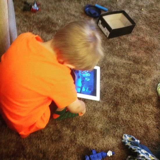 Worn out from a day out and about!! :/) love this kid! Boymom Busyday Polo Ralphlauren Blonde Toddler  Ipad