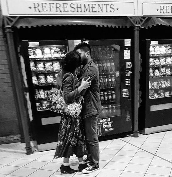Oblivious in their oblivion. In each other they saw nothing else. Moments stolen on the platform, moments before departure. A warning announcement and with the sound of two hearts tearing, she got on the train... She, every fiber against the window... he waited on the platform... till that train was a speck only his heart could follow. . Transport Street Candid Series & my Prose before Caffeine! MichaelsCamera TheCreatorClass EyeEm Eyeemphoto Justgoshoot Streetlife_mag Main_vision Justgoshoot Blackandwhite Blackandwhitephotography Blackandwhitelove Insta_bw Bnw_society Bnw Bnw_australia Bnw_captures Bnw_city The_lady_bnw
