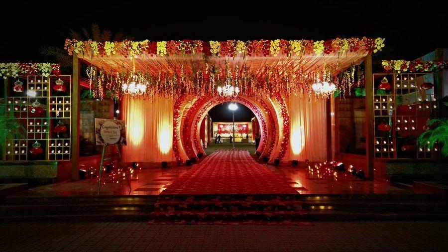 Grandeur at Indian Weddings No People Extravaganza Indian Wedding Grand Entrances Floral