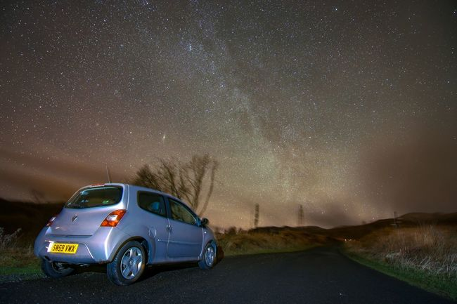 Renault TWINGO Scotland Ben Lawers Rural Astrophotography Starry Sky Milkyway Traveling Home For The Holidays Roadtrip Starscape Astronomy Nature Outdoors Tokina 11-16 Mm F/2,8 Outdoors Cloud - Sky Space Star - Space Low Angle View