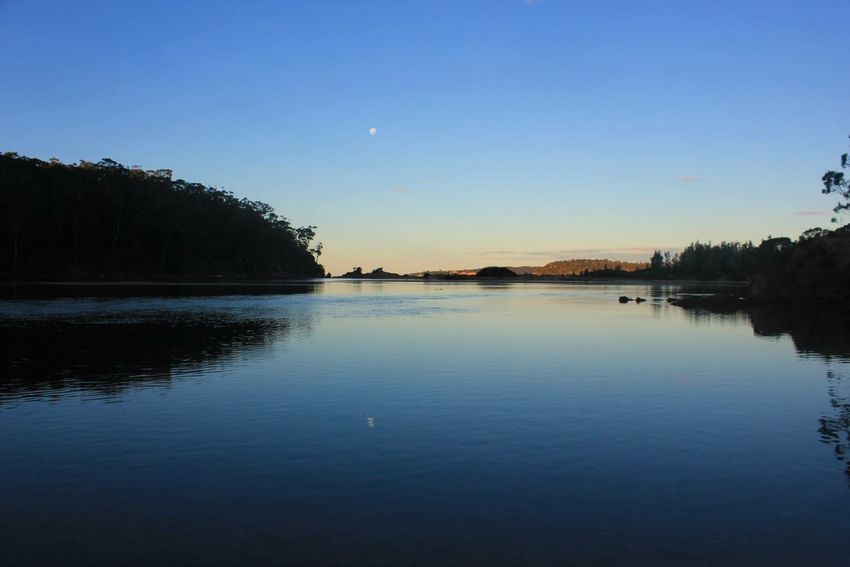 Water Reflections Moon Australia Beautiful