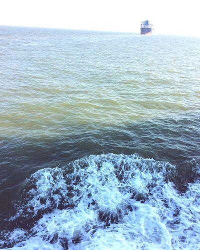 Sea Ship Dusk Returning Home Summer