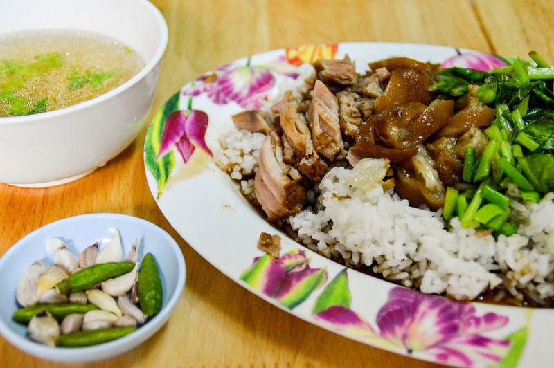 Thai Food Thailand Cuisine Thai Cuisine Food And Drink Ready-to-eat Food Plate Freshness Healthy Eating Serving Size No People Indoors  Meal Close-up Indulgence Meat Vegetable Gourmet Day