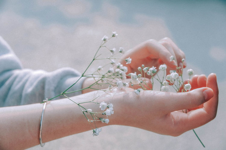 Hands The Creative - 2018 EyeEm Awards Adult Blue Finger Flower Flowering Plant Nature Outdoors