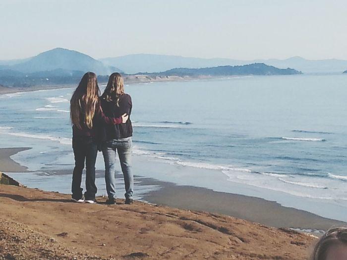 Check This Out Sisters ❤ Sistersforlife Relaxing Taking Photos Hi! Beautiful Ocean❤ Ocean View