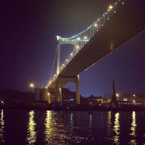 夜晚的海沧大桥。来自鹭江夜游。 海沧大桥 鹭江 夜游 Bridge night landmark 厦门 鼓浪屿