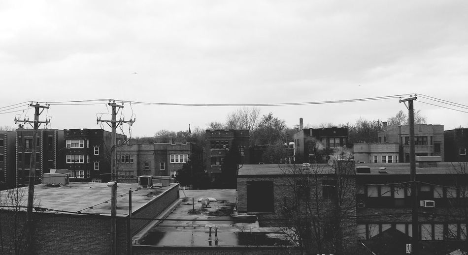 View from the library Wintersky Dull Chilly!