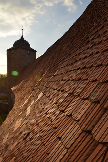 Die Wasserburg in Kapelendorf Architecture Building Exterior Built Structure Day Low Angle View No People Outdoors Place Of Worship Religion Roof Shindles Sky Spirituality Tiled Roof