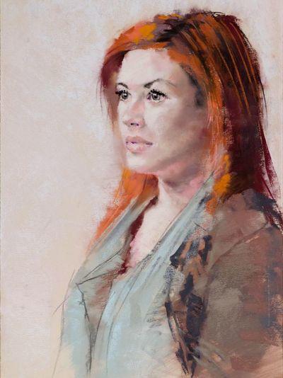 Portrait of Giana. Soft pastels. Art Drawing Portrait Enjoying Life
