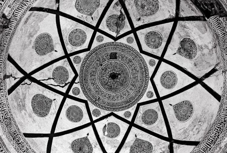 Full frame shot of patterned pattern on floor