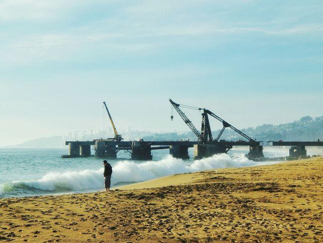 El muelle Vergara. Viña del Mar, Chile. Mayo de 2016. Muelle Mar Viña Chile