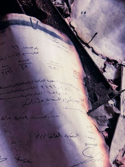 Scorched Document. Scorched Abandoned Embassy Iraqi  Berlin Letter