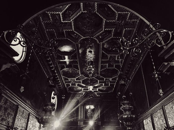Creepy Church Ceiling - Theladyontherocks @ Perast Montenegro Boat Trip Architecture Art Indoors  Blackandwhite Simmetry