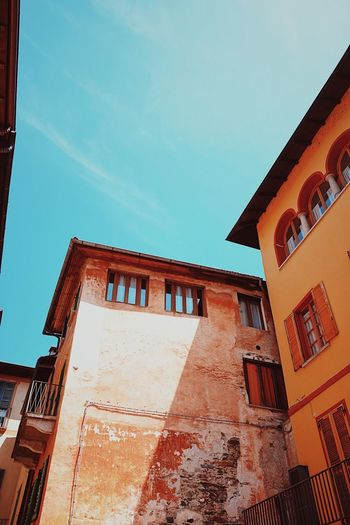 Old Italian buildings. Architecture Building Exterior Built Structure Clear Sky Day Italian Buildings Low Angle View No People Old Architecture Outdoors Sky Window