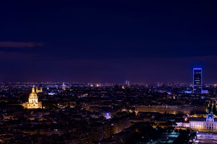 Eiffel Tower France Paris Tour Eiffel Architecture Built Structure Eiffel Eiffelturm Eiffelturm Bei Nacht Frankreich Illuminated Night View From Eiffel Tower