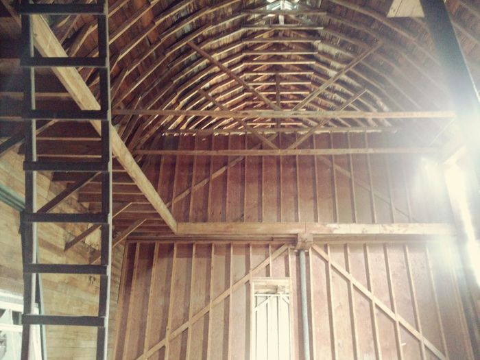 I inside an old barn Architecture Low Angle View History Vintage Old-fashioned Perspective Vintage Architecture Barn Barns Rural Rural Exploration