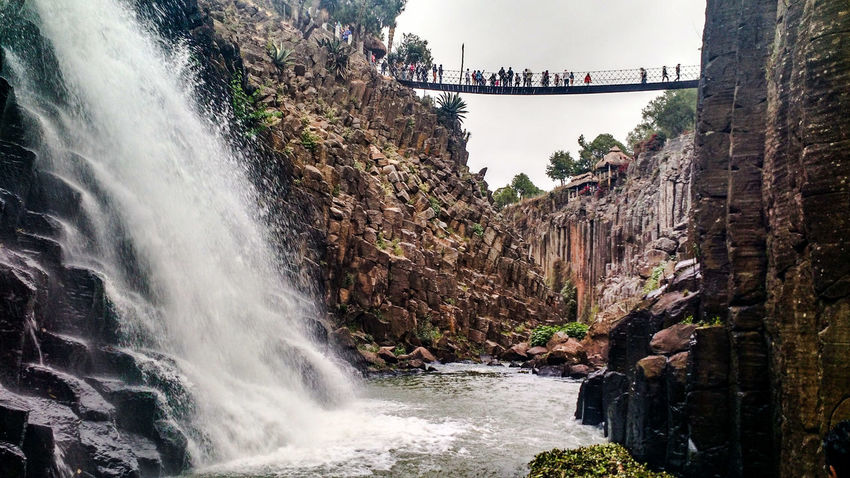 Waterfall and Basaltic Prisms in Santa Maria Regla, Hidalgo, Mexico Basaltic Prism Beauty In Nature Hidalgo  Mexico Nature Outdoors PrismasBasalticos SantaMariaRegla Scenics Splashing Travel Destinations Water Waterfall