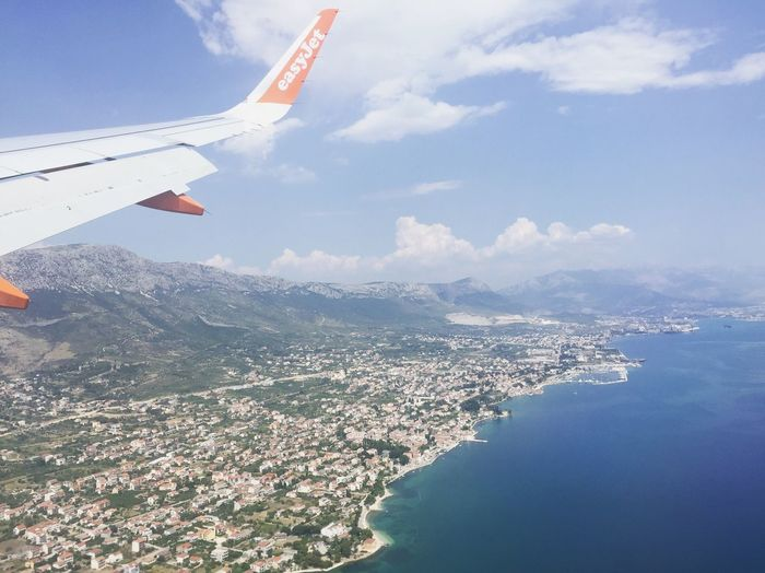 Fly-by into Split Split Croatia From The Air Aerial View Summer In Flight Travel Photography Travel On The Way