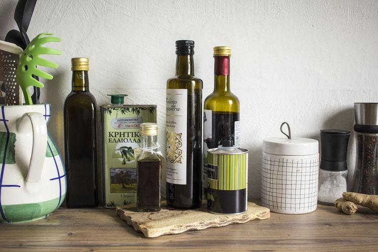 Cooking Kitchen Kitchen Life Oil Olive Oil Preparing Food Still Life Table Utensils Vinegar
