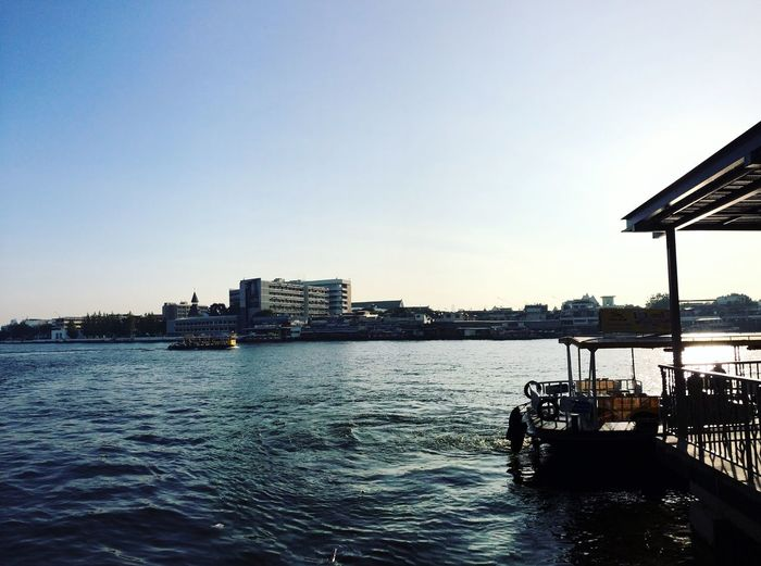 #Thailand #boat #river Water Sky Clear Sky