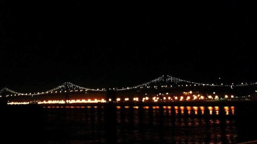 Night Architecture Suspension Bridge City
