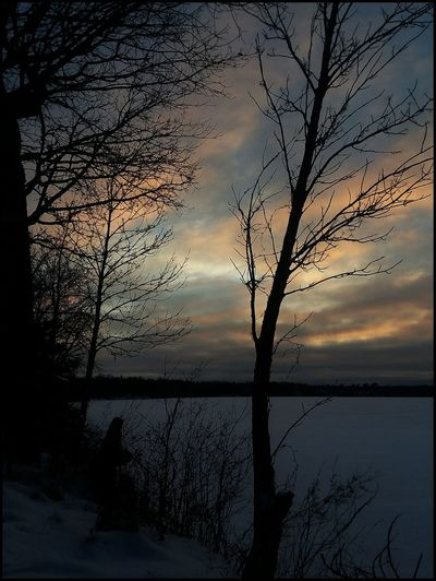 Morning sunrise Roy Lake Mn. HAPPY WEEKEND FRIENDS ❤☕❤☕❤ Reflection Tree Lake Sunset Water Sky Nature Scenics Silhouette Beauty In Nature Landscape Outdoors Bare Tree No People Tranquility Branch Dawn