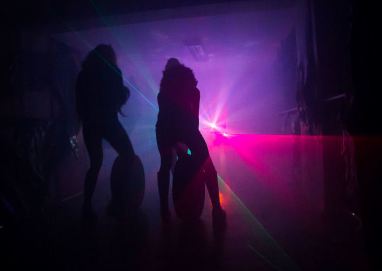70s Backlight Celebration Dancing Disco Emerging Enjoyment Glowing Group Of People Holding Illuminated Indoors  Leisure Activity Music Party Real People Shillouette Shining Through Women