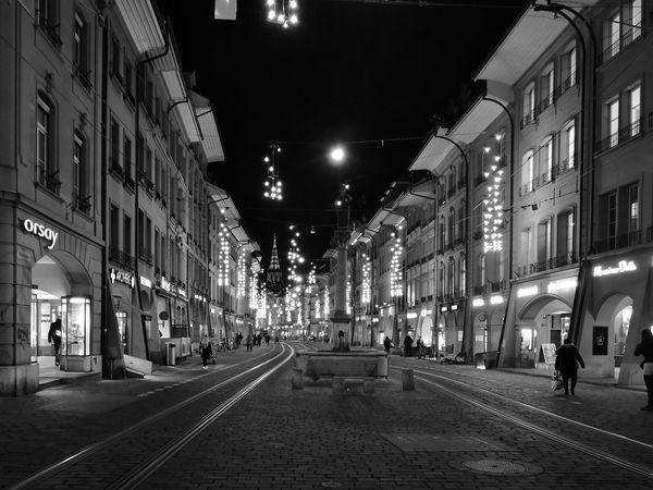 Streets of Bern Blackandwhite Bern Xmas X-mas Christmas Decoration Christmas Lights Huaweiphotography Mobilephotography Mobile Photography