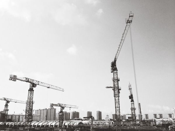 Urban Construction Blackandwhite