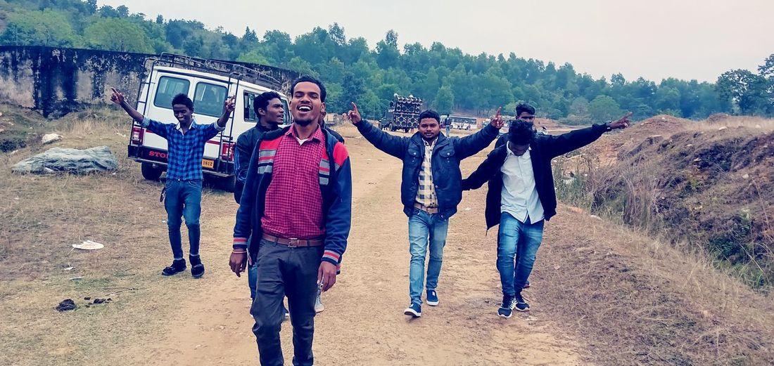 Group of people walking on land