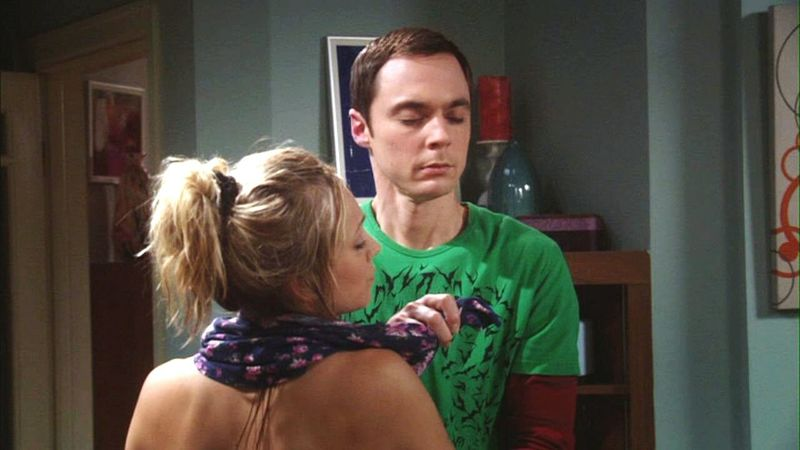 Penny: This is my arm?∆ Sheldon: It doesn't feel like an arm.∆ Penny: Then may be you should let it go...😁😁😁😁😁 The Big Bang Theory  Season3 Episode 13 The Adhasive Duck Dificiency Funny Stuff SHELDON COOPER Penny