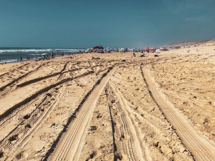 Souston beach 😀 Landes - France Landes Moment France Eyeemphotography Soustons Summer EyeEm Selects Land Water Sand Beach Sea Nature Sky Scenics - Nature Beauty In Nature Day Tranquil Scene Tranquility Horizon Over Water Non-urban Scene Holiday