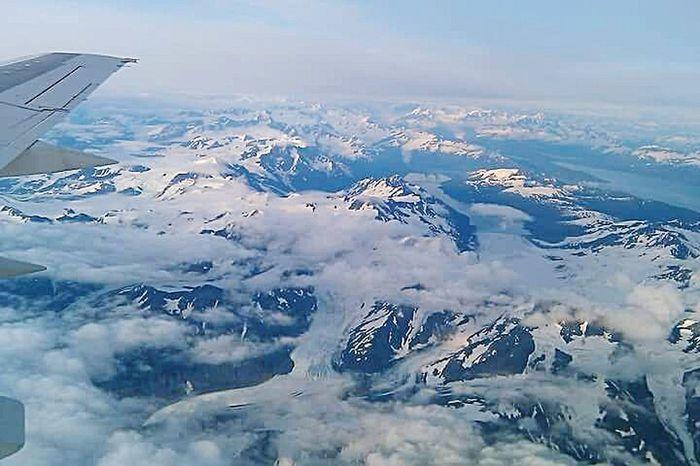 Mountains Clouds Arial Alaska JessCarrieA Miles Away
